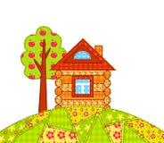 Huis op de geïsoleerde heuvel Royalty-vrije Stock Foto
