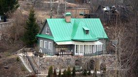 Huis op de heuvel Royalty-vrije Stock Afbeelding