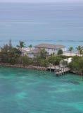 Huis op de oceaan Stock Afbeeldingen