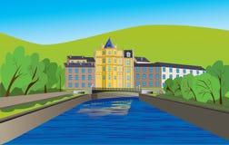 Huis op de rivier Royalty-vrije Stock Afbeeldingen