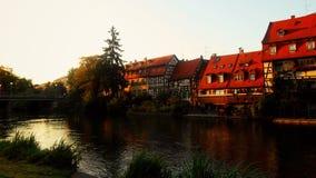 Huis op de rivier Stock Foto's