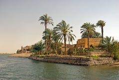 Huis op de rivier van Nijl, Egypte Stock Fotografie
