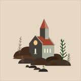 Huis op de stenen Stock Foto's