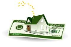 Huis op Dollar royalty-vrije illustratie