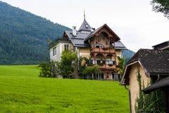 Huis op een alpiene weide Royalty-vrije Stock Fotografie