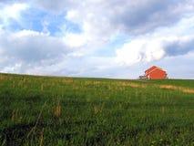 Huis op een heuvel Stock Foto