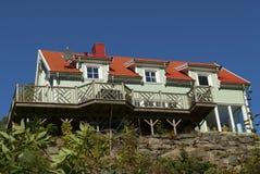 Huis op een heuvel Royalty-vrije Stock Afbeelding
