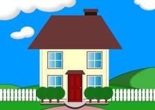 Huis op een heuvel vector illustratie