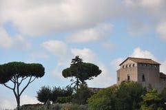 Huis op een Heuvel in Roman Forum Royalty-vrije Stock Afbeelding