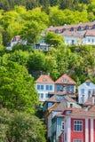 Huis op een hillsid Stock Foto