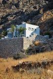 Huis op het eilandstrand van Rhodos Stock Fotografie