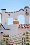 Huis op het eilandwit van Rhodos Stock Afbeelding