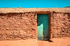 Huis op Machuca, San Pedro Atacama, Chili royalty-vrije stock foto