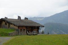 Huis op mountian van Franse landkant Stock Fotografie