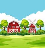 Huis op plattelandsgebied vector illustratie