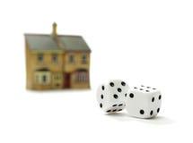 Huis op risico Stock Foto's