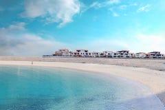 Huis op strand, Gran Canaria, Canarische Eilanden Stock Afbeelding