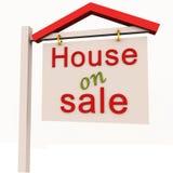 Huis op verkoop vector illustratie