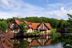 Huis op water Royalty-vrije Stock Afbeelding