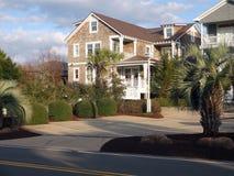 Huis op Wrightsville-Strand, Noord-Carolina Stock Foto
