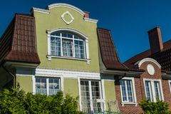 Huis in oude Duitse stijl Royalty-vrije Stock Foto's