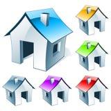 Huis-pictogram Royalty-vrije Stock Fotografie