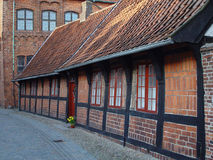 Huis in Ribe Stock Foto