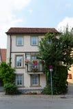 Huis in Rothenburg ob der tauber, Duitsland Stock Foto's