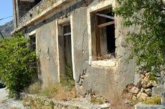 Huis in ruïne Stock Afbeelding