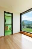 Huis, ruimte met badkamers Stock Foto