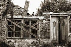 Huis in ruines Royalty-vrije Stock Afbeelding