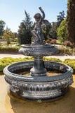 Huis Santiago van de fontein doet het Historische Wijnmakerij Chili Stock Afbeelding