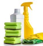 Huis schoonmakende hulpmiddelen Royalty-vrije Stock Fotografie