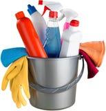 Huis Schoonmakende Materiaal en Voorraden in Emmer - stock foto