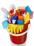 Huis Schoonmakende Materiaal en Voorraden in Emmer - stock fotografie