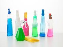 Huis schoonmakende producten Stock Foto