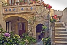 Huis in Taormina, Sicilië Stock Afbeelding