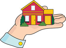 Huis ter beschikking stock illustratie