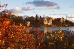 Huis in Toolo baai, Helsinki Stock Foto