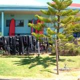 Huis in torquay strand royalty-vrije stock fotografie