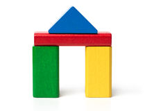 Huis Toy Blocks royalty-vrije stock foto
