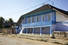 Huis in Trebujeni moldova royalty-vrije stock foto