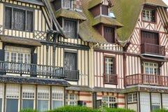Huis in Trouville sur Mer in Normandie Royalty-vrije Stock Fotografie