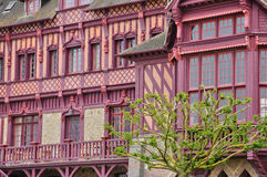 Huis in Trouville sur Mer in Normandie Royalty-vrije Stock Fotografie