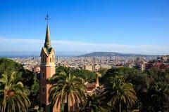 Huis van Antoni Gaudi in Park Guell Stock Afbeelding