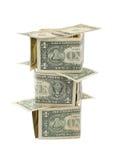 Huis van bankbiljetten royalty-vrije stock afbeeldingen