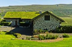 Huis van de beroemde schrijver Gunnar Gunnarsson van IJsland in Fljotsdalur Stock Afbeeldingen