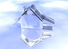 Huis van de Diamant van het Glas van de luxe het Duidelijke Royalty-vrije Stock Afbeeldingen