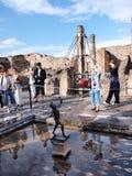 Huis van de Faun, Pompei, Italië Stock Afbeeldingen