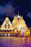 Huis van de Meeëters in oude stad van Riga Royalty-vrije Stock Fotografie